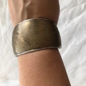 Gold and Silver large bracelet